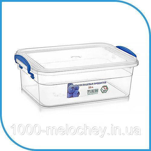 Пищевой пластиковый контейнер 2,5 л, бокс для еды