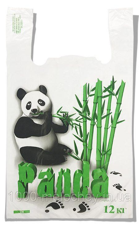 Пакет-майка «Панда» Золотое сечение белый (25х42) 100 шт