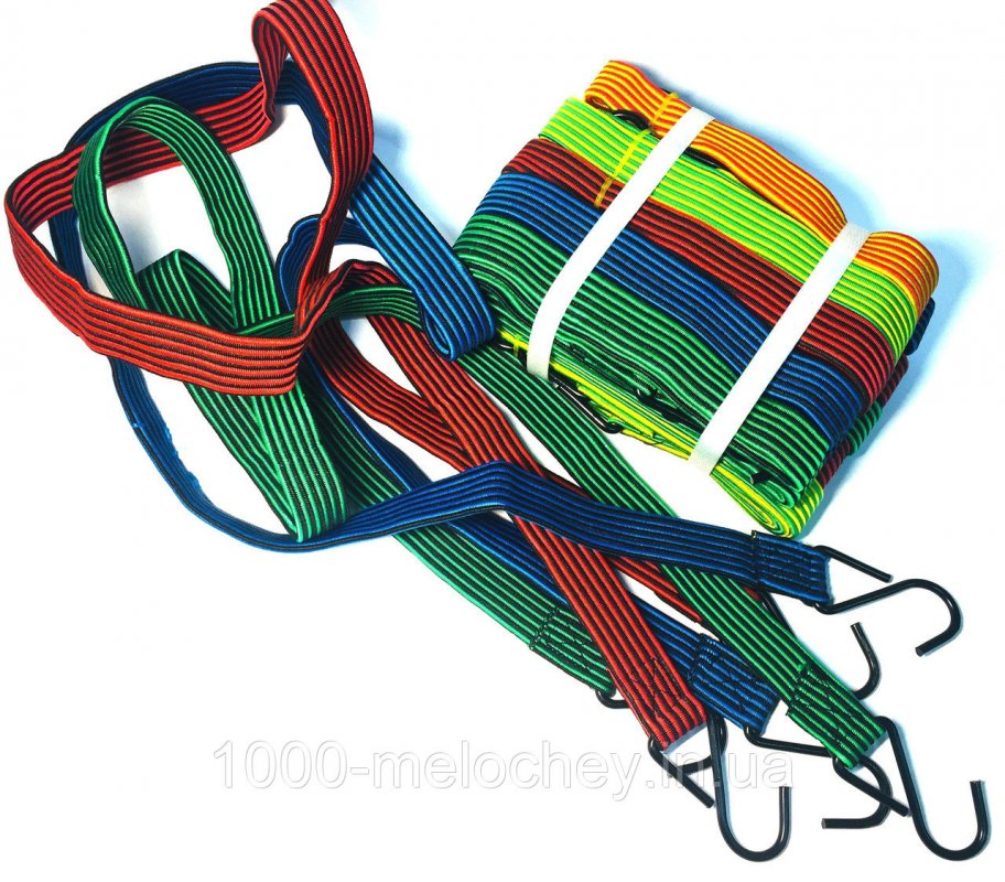 Резинка багажная с крючками для фиксации грузов L=1.5m, широкая
