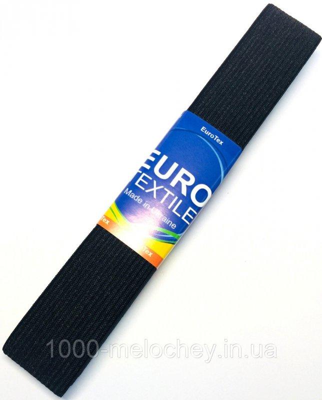 Резинка для одежды EuroTextile ( 30mm/5m) черная, тесьма эластичная