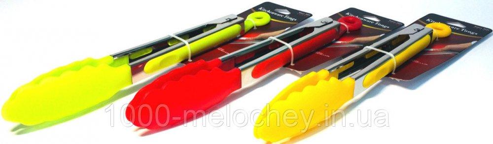 Щипцы силиконовые ручки (250mm), разные цвета