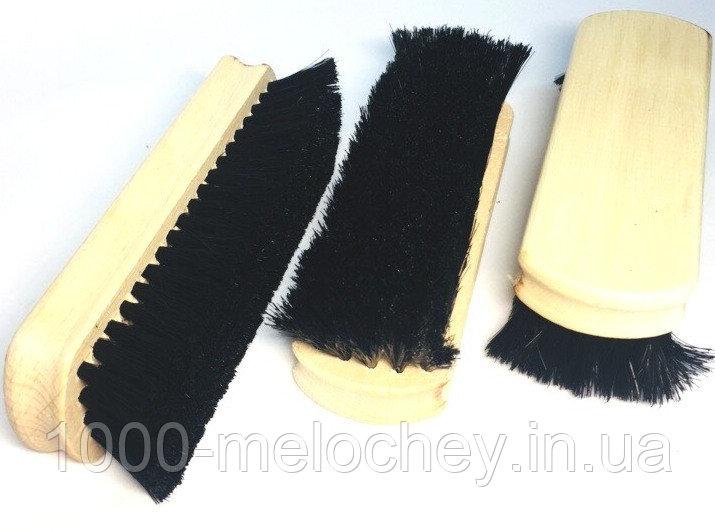 Щетка для чистки обуви и одежды 140mm, черная