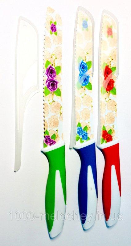 Нож кухонный металлокерамический 24 длинный хлебный White Swan (320mm)