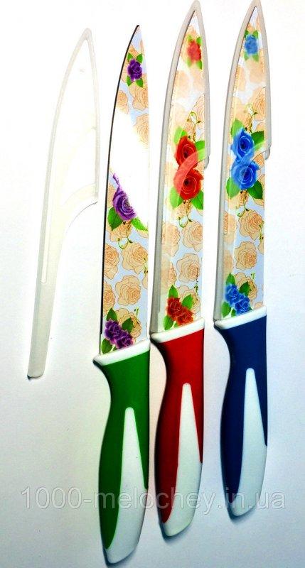 Нож кухонный металлокерамический 24 длинный узкий White Swan (320mm)
