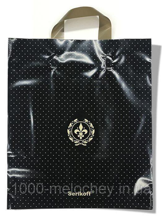 """Пакет с петлевой ручкой тип """"Serikoff"""" черный (30х35) 25 шт"""