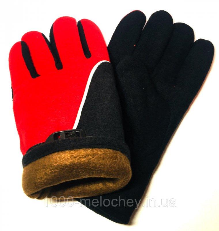 Перчатки рабочие флисовые, двойные Зима