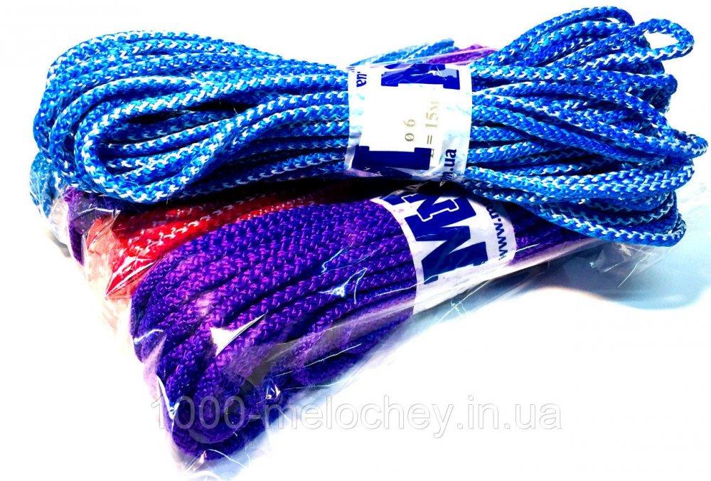 Веревка цветная D=6mm, 15m