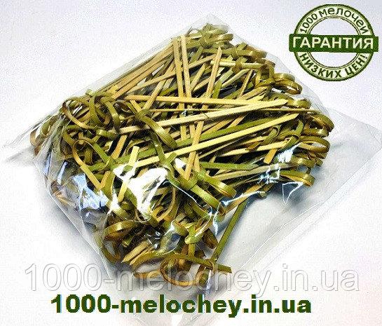 Бамбуковые шпажки узелок 90 mm ( 100 шт/уп ) палочки для канапе.