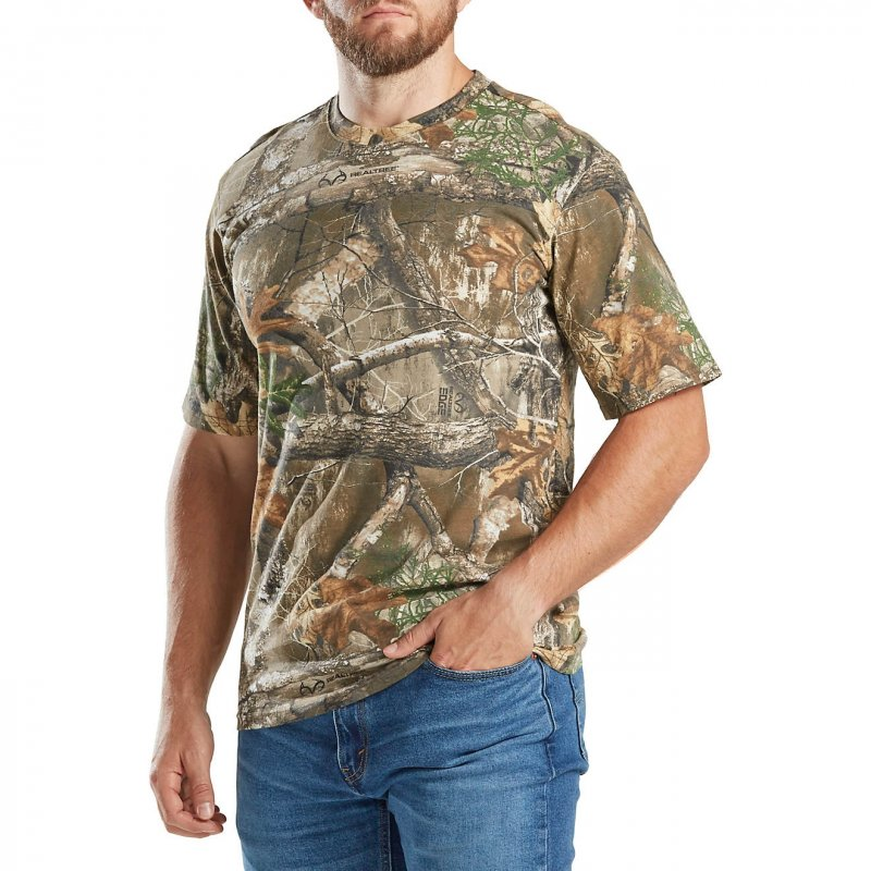 Футболка для охоты и рыбалки Magellan Outdoors Men's Hill Zone Short Sleeve T-shirt Realtree Edge