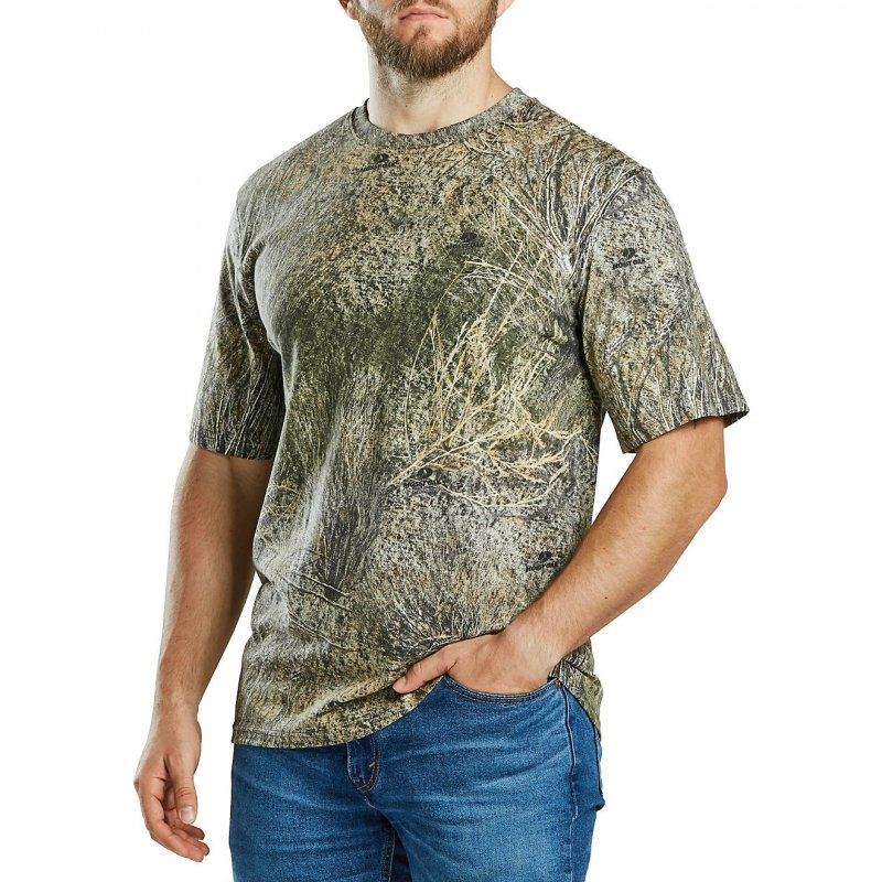 Футболка для охоты и рыбалки Magellan Outdoors Men's Hill Zone Short Sleeve T-shirt Mossy Oak Brush