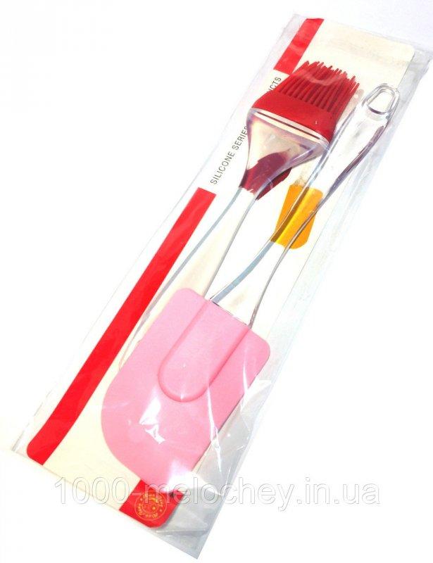 Набор кухонный Силикон 2 (лопатка, кисть), силиконовый набор