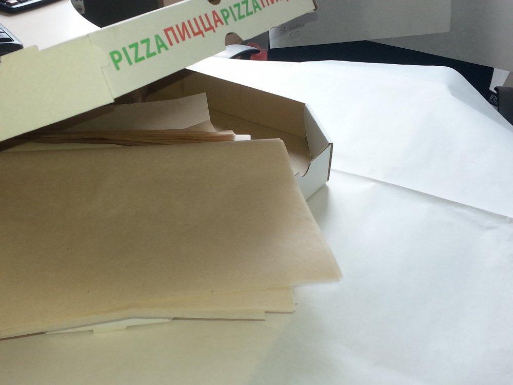Бумага под пиццу (подпергамент) ф. 30*30; 36*36; 42*42