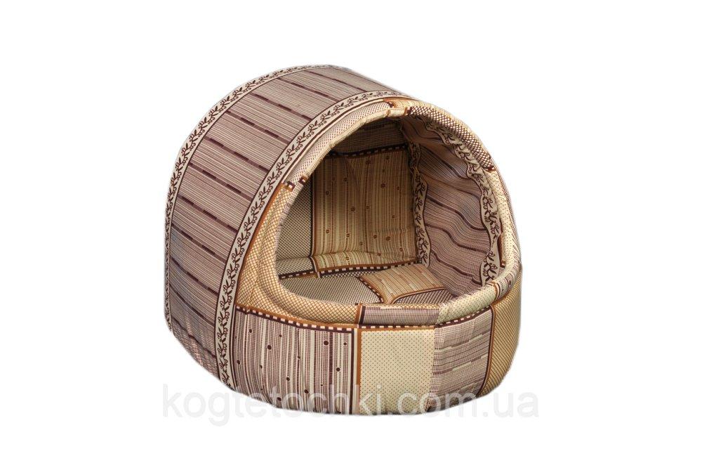"""Купити Будиночок-лежак (лежанка) для домашніх тварин Мур-Мяу """"Комфорт Міні"""" Бежевий"""