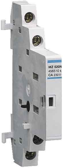 Купить Дополнительный контакт для автомата защиты двигателя Hager 250 В/2 А, 1НВ+1НЗ, 0,5м MZ520N