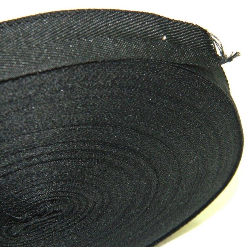 1,5 см Киперная лента (синтетическая, черная) - 50м. (653-Т-0509)
