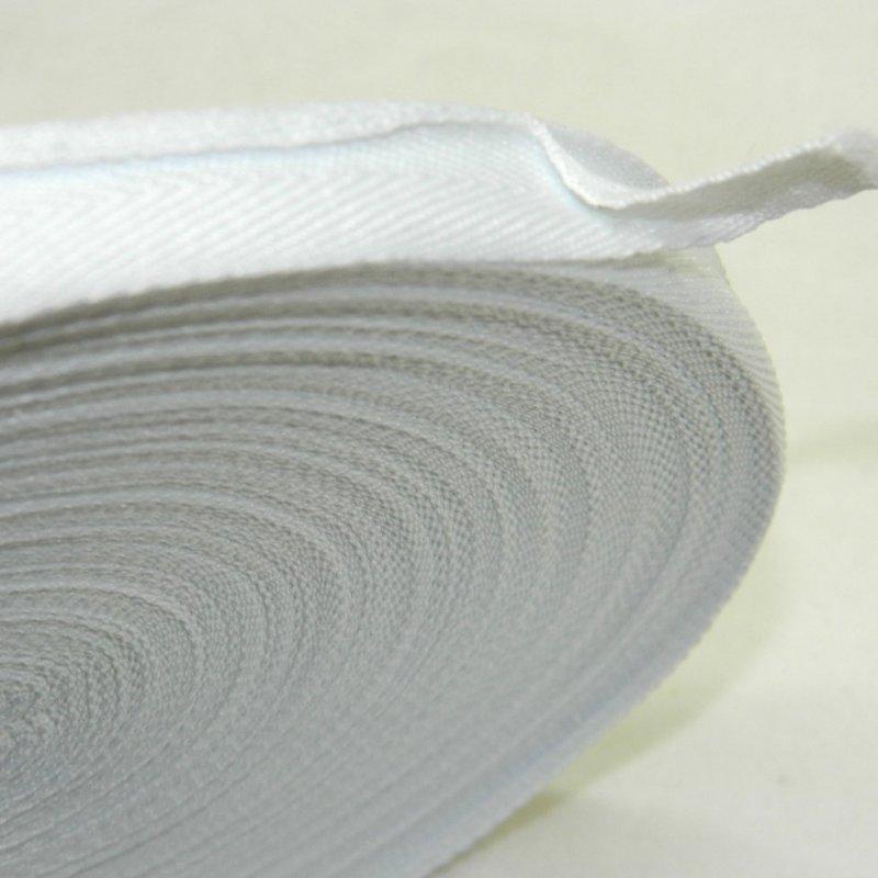 2 см Киперная лента (синтетическая, белая) - 50м. (653-Т-0510)