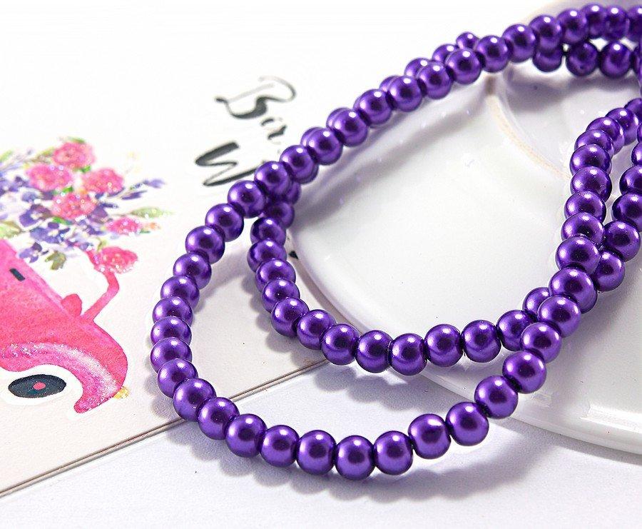 Купить Жемчуг стеклянный Ø4мм, упаковка 150 штшт, цвет - Фиолетовый (сп7нг-1017)