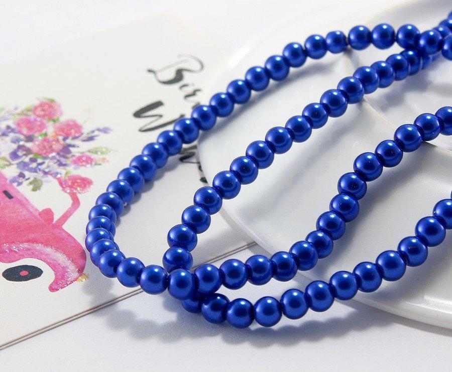 Купить Жемчуг стеклянный Ø4мм, упаковка 150 шт, цвет - Синий (сп7нг-1019)