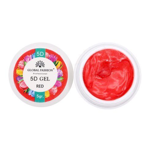 Купить 5D Гель Global Fashion 5мл, красный