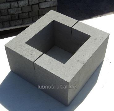 Купить Блок бетонный столбовой серый