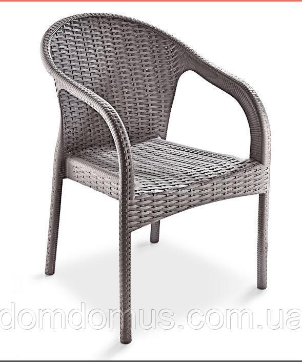 """Купить Кресло """"Ege Rattan Koltuk"""" Irak Plastik, искусственный ротанг Турция серый"""