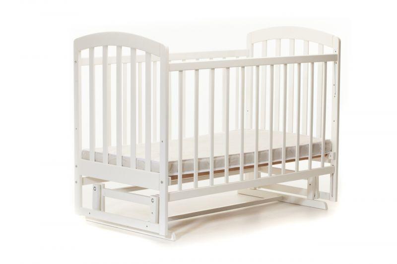 Детская кроватка «ЛАМА» маятник белая