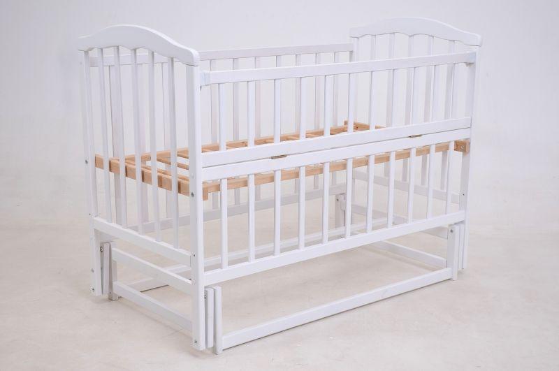Купить Детская кроватка «ЧАЙКА» белая с откидной боковиной