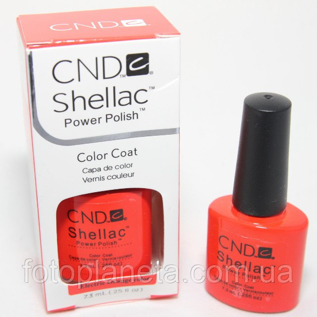 "Гель-лак Shellac CND ""Electric Orange"""