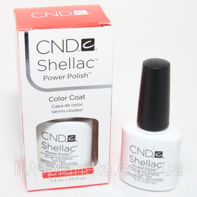 "Гель-лак Shellac CND ""Silver Chrome"""