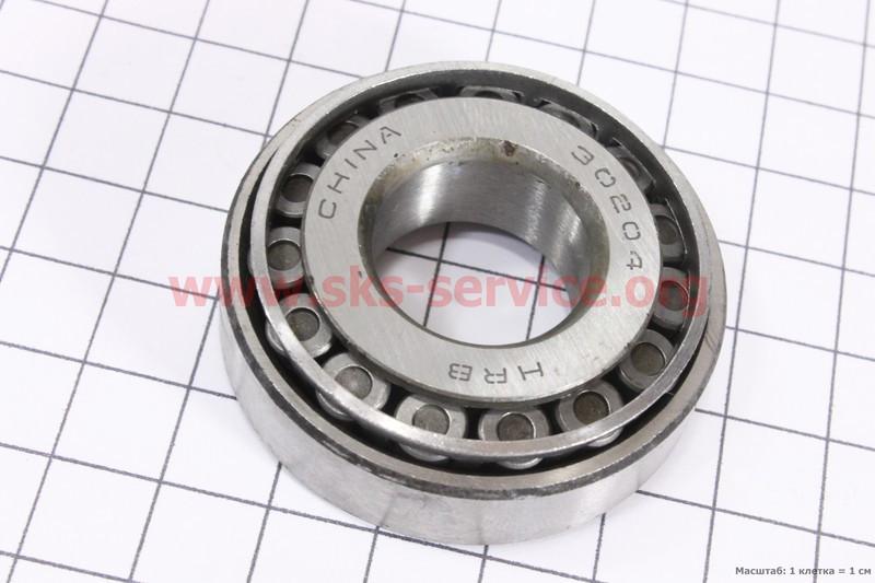 Купить Подшипник 30204 (20x47x15) конический роликовыйдля дизельного мотоблока F178/ F186 - 6/9 л.с.
