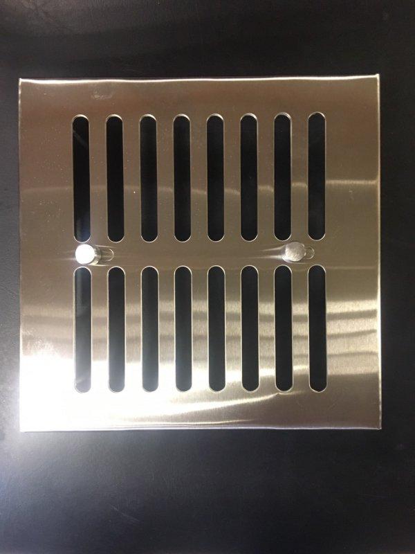 Купить Вентиляционная решетка с задвижкой для сауны , бани 170 * 170 (нерж.)