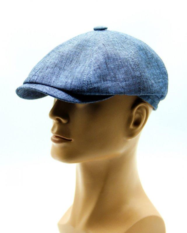 Купить Голубая летняя кепка восьмиклинка.