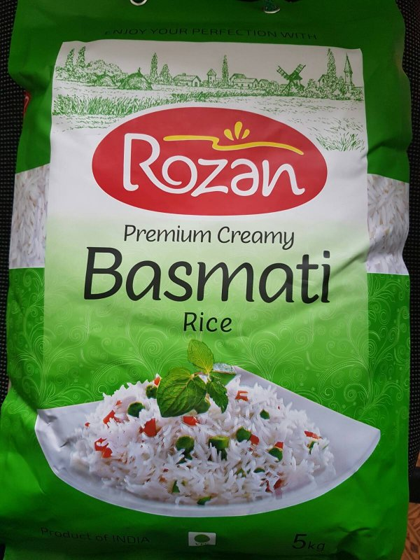 Купить Рис Басмати Premium Creamy Rozen 5 кг
