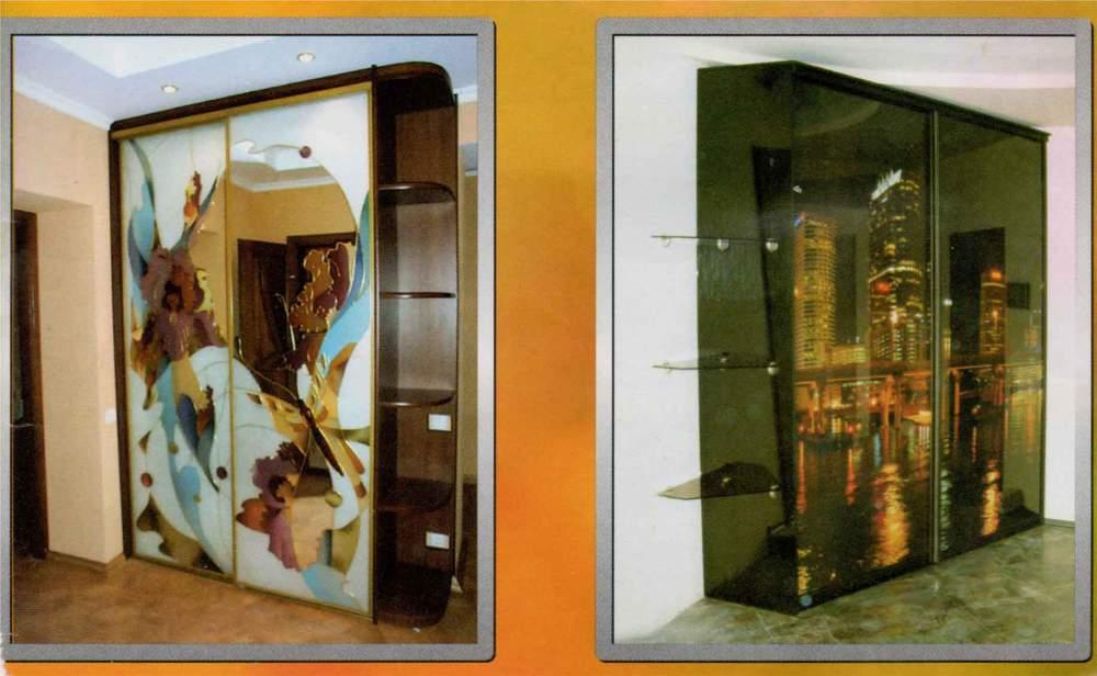 Шкаф купе со стразами фото