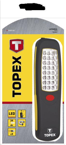 Купить Лампа рабочая 24 LED, батарейки 3xAA TOPEX 94W245