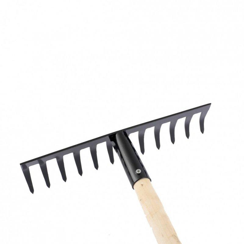 Купить Грабли 12-зубов 300мм, с рукояткой, прямые // СИБРТЕХ 61741
