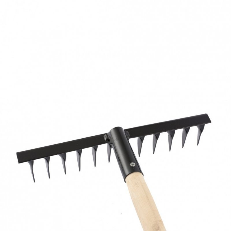 Купить Грабли 12-зубов 300мм, с рукояткой, витые // СИБРТЕХ 61744