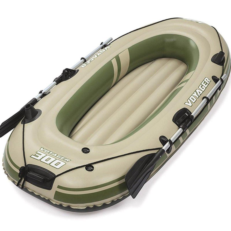 Купить Двухместная надувная лодка Bestway 65051 Voyager 300, 243 см х 102 см, бежевая, с веслами