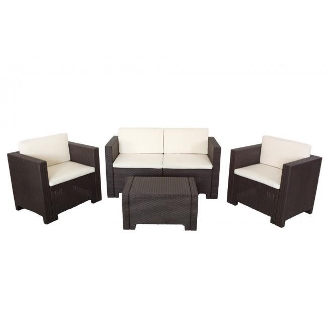 Купить Набор садовой мебели Colorado 2 Marrone коричневый производство Италия