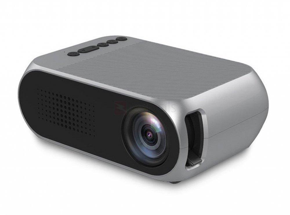 Купить Мультимедийный портативный мини проектор Projector LED YG-320 Mini Gray 700 lumen Оригинал, Гарантия + ПОДАРОК