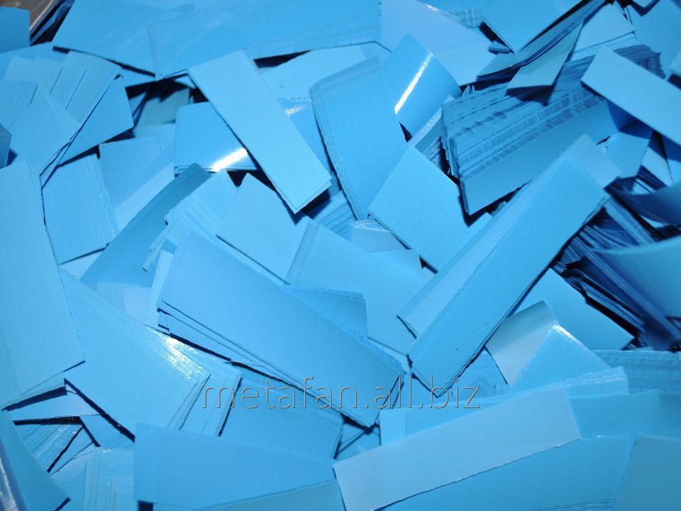 Конфетти-метафан голубой, праздничный декор