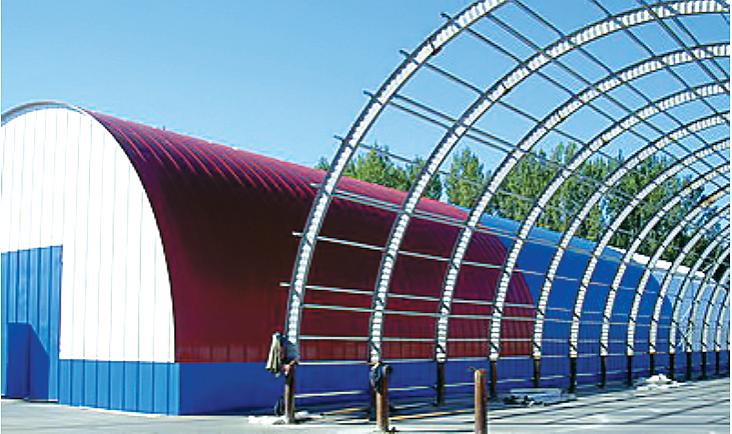 Купить Ангары шатровые. Строительство быстровозводимых зданий из металлоконструкций, с использованием термопрофилей и ЛСТК.