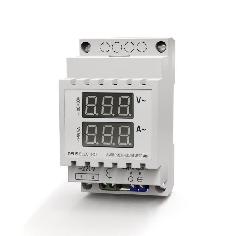 Купить Амперметр-вольтметр переменного тока DEUS Electro АВ1-100 однофазный с внешним транс. тока (0-100А, 100-420В)