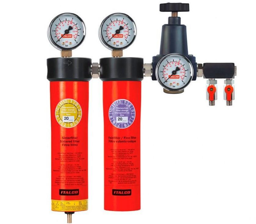 Купить Блок подготовки воздуха профессиональный (2 ступени) Italco AC6002