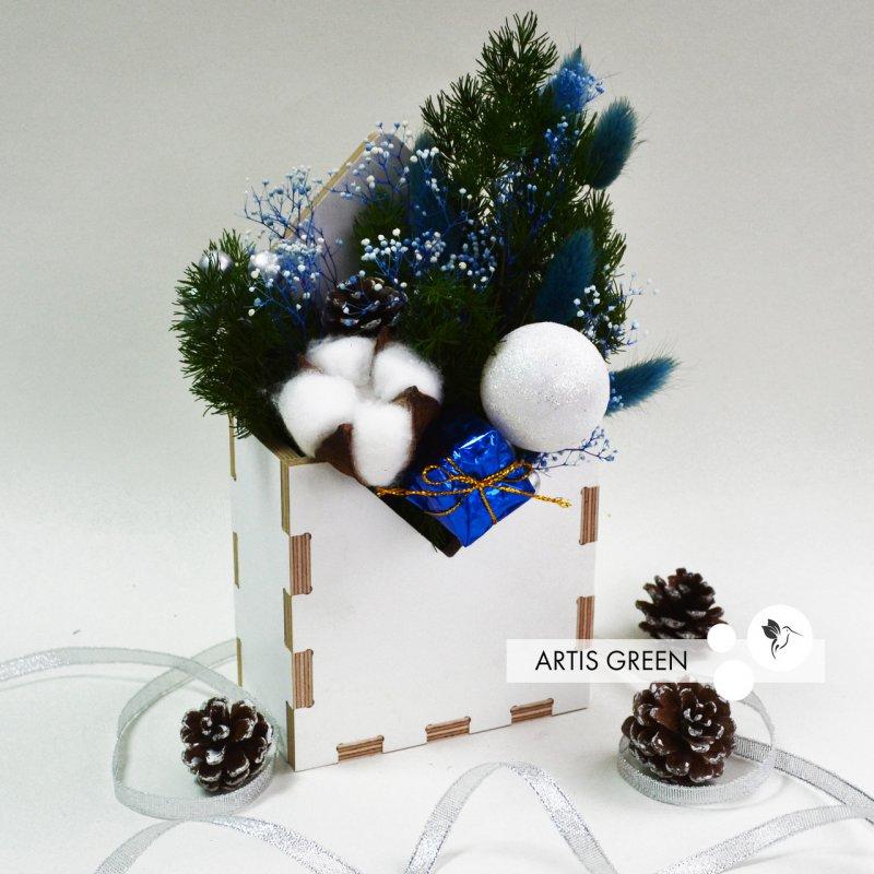 """Купить Фито-конвертик ручной работы из стабилизированных растений """"Artis Green"""", S93"""