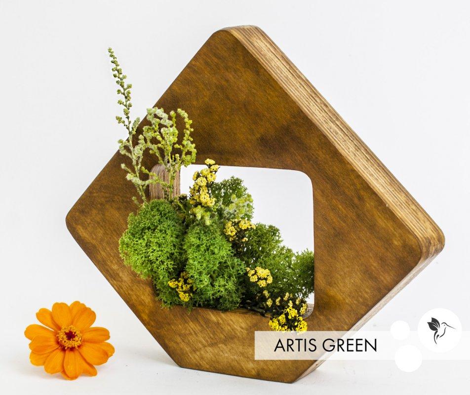 """Купить Ромбик со мхом и растениями """"Nature in the tree"""" от """"Artis Green"""", S81"""