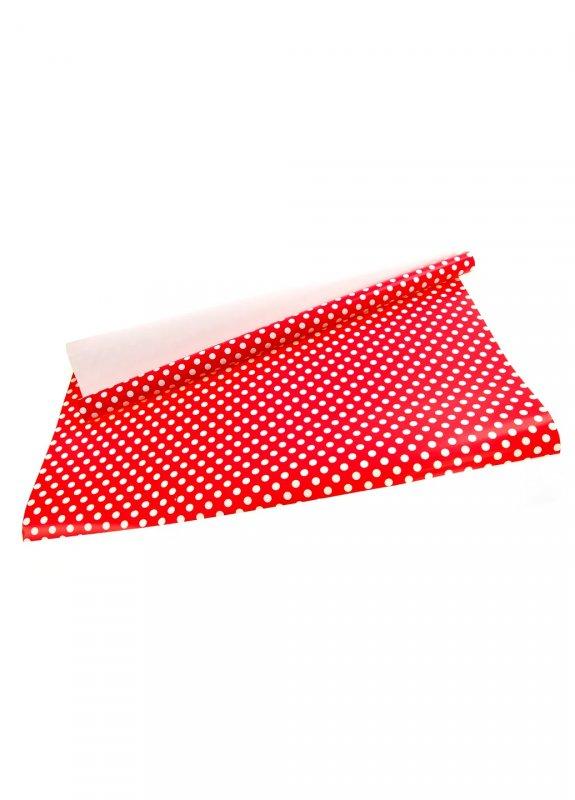 Купить Подарочная бумага горошек красный-белый K01-110871