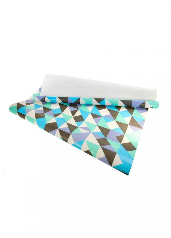 Купить Подарочная бумага белый-голубой K01-110876