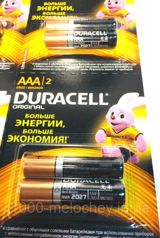 Батарейки Duracell минипальчиковые, LR03/MN2400 AAA