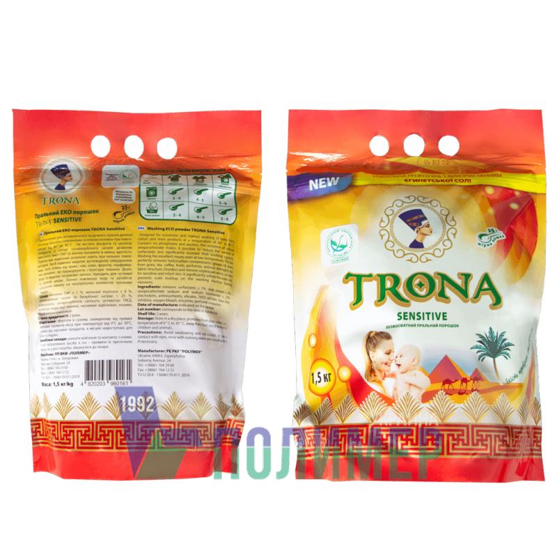 Buy ECO phosphate-free washing powder TRONA Sensitive 1.5 kg